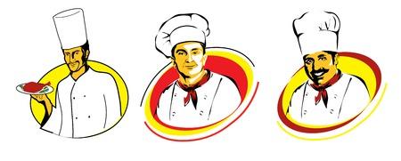 the chief: Chief cook - symbols Illustration