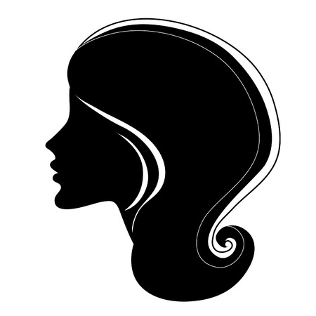 silhouette of a girl with long beautiful hair Stock Vector - 5144779