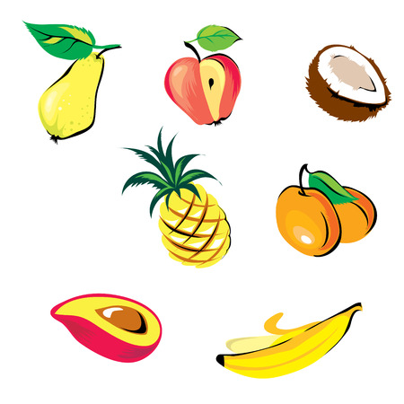 collection of fruits Vector