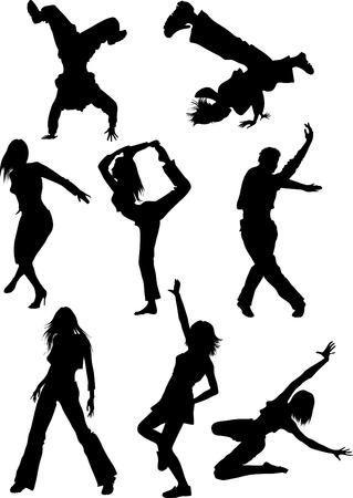 flexible woman: street dances Illustration