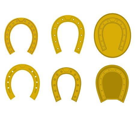 Ensemble de symboles de fer à cheval Vecteurs