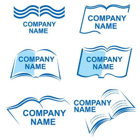 bookish: Set of book logos Illustration