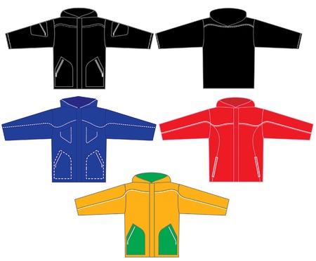 assemblage: set of jackets Illustration