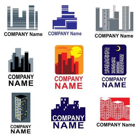 obscure: Set de Logotipos de la ciudad