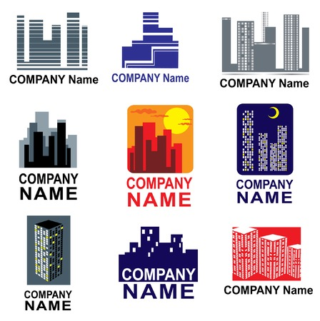 Set of city logotipes Stock Vector - 5145234