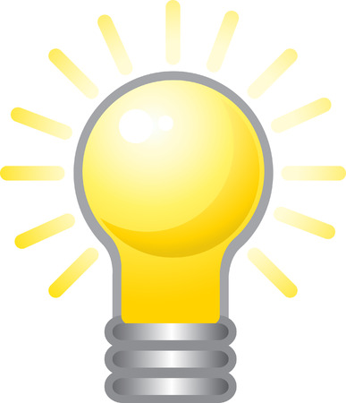 irradiation: I have idea! Can be used to show insight and idea