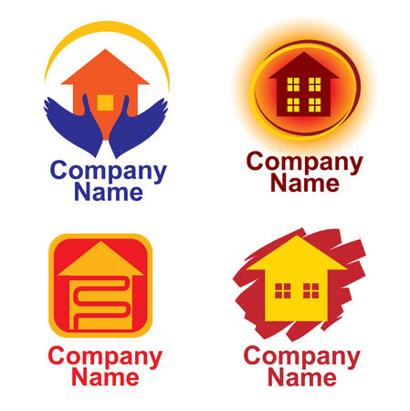corporate building: Set of house logos