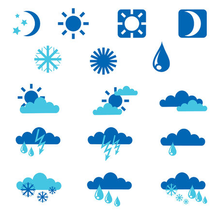 Set of weather icons Stock Vector - 5145138