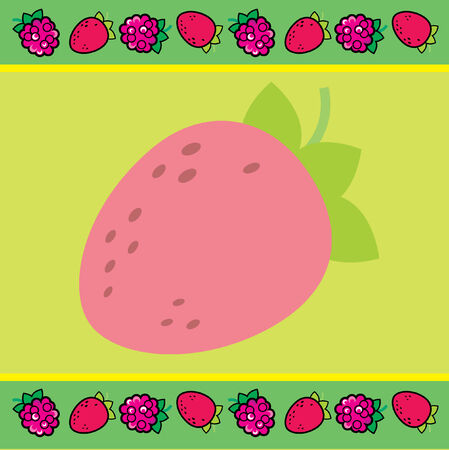 Cute strawberry background Vector
