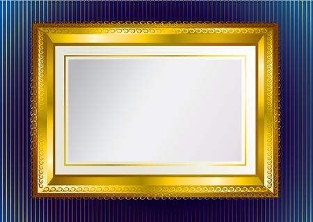 Background with gold frame Ilustração