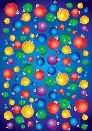 Christmas balls background Stock Vector - 5145299