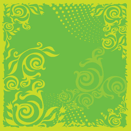 Green floral background Stock Vector - 5145060
