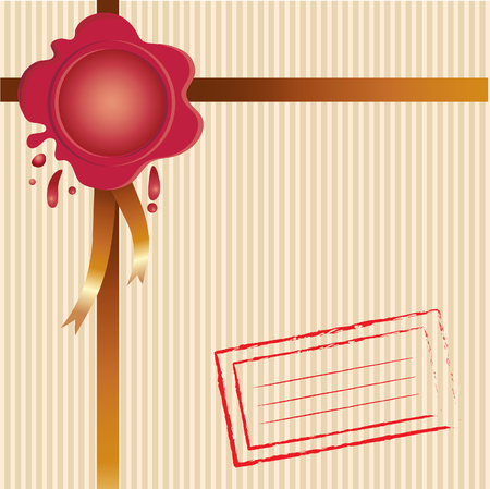 dispatch: Background with wafer and ribbon on dispatch