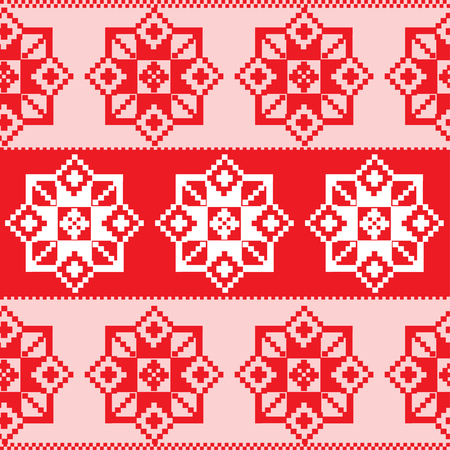 Seamless russian red pattern Vector