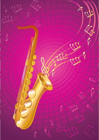 jive: Gold saxophone