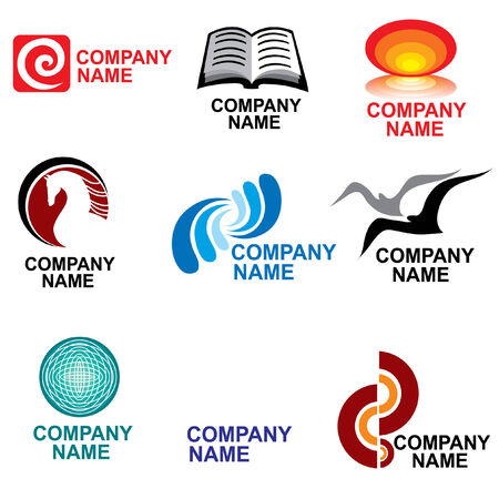 book logo: conjunto de elementos de dise�o