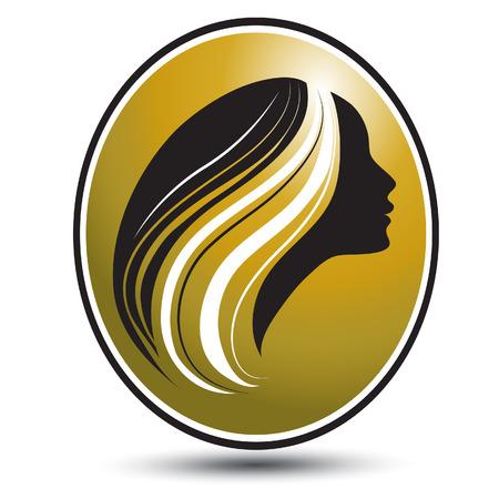 long hair woman: chica con largo cabello hermoso