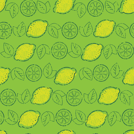 hatchwork: Seamless grunge pattern from lemons (From my big  Illustration