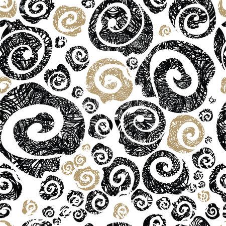 Seamless grunge rose pattern Vector