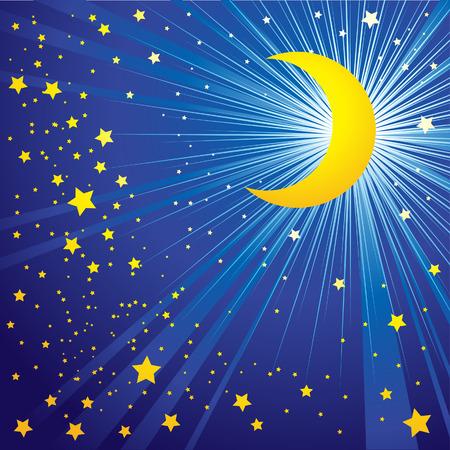milkyway: Achtergrond met de maan op de nachtelijke hemel