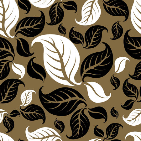 Seamless vintage beige pattern with leafs Vector