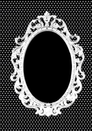 casing: Grunge black background with vintage frame