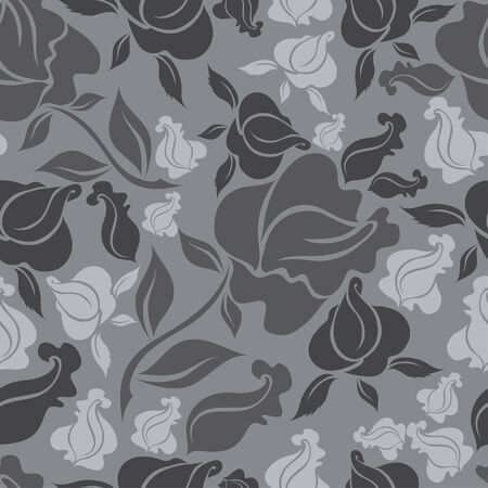Seamless vintage floral pattern with roses (From my big  Vector