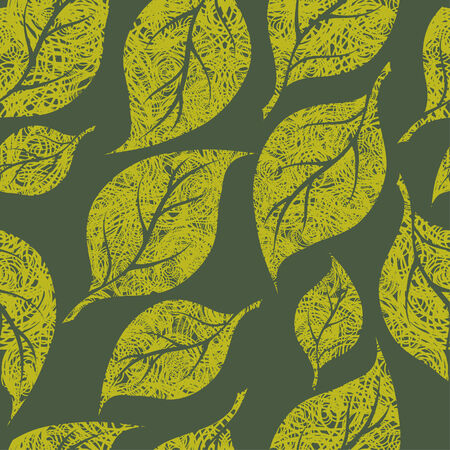 Seamless vintage grunge floral pattern with leafs (From my big  Vector