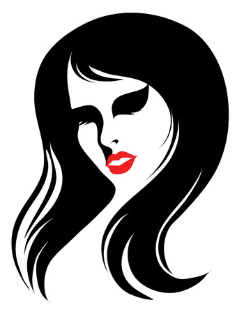 Vintage woman with beautiful long hair (From my  Stock Vector - 5373254