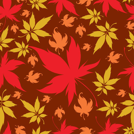Seamless Background with colorful Autumn Leaves. Thanksgiving Stock Vector - 5373257