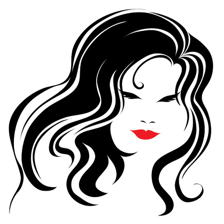 Vintage woman with beautiful long hair (From my  Stock Vector - 5408882