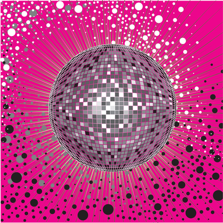 mirrorball: Vector background - CD Cover design with disco-ball