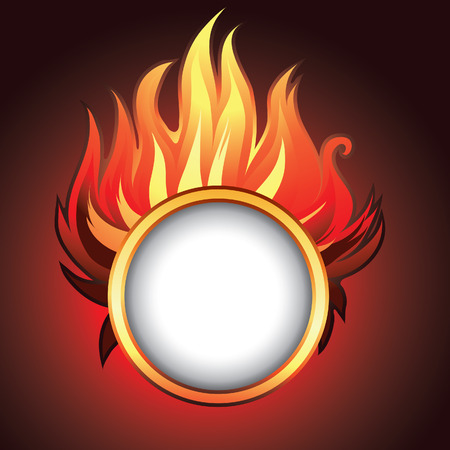 Vector frame background with fire (from my big