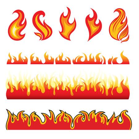 Set of hot fire design elements