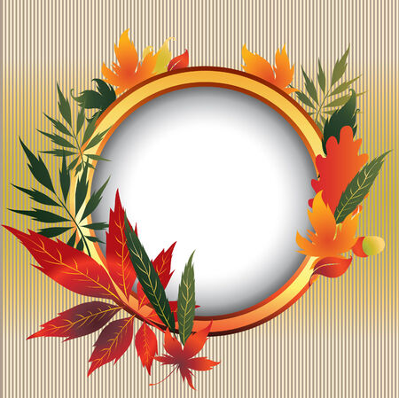 Vector frame with colorful Autumn Leafs. Stock Vector - 5498742