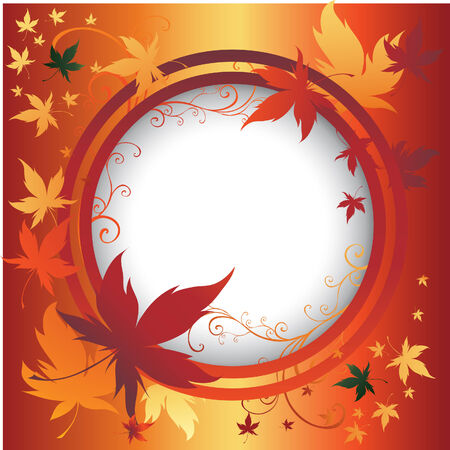 Vector frame with colorful Autumn Leafs. Thanksgiving Stock Vector - 5498752