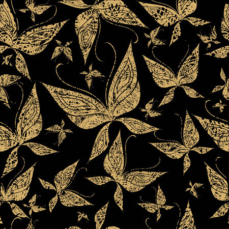 Vector seamless grunge pattern with butterfly (from my Seamless pattern collection) Vector