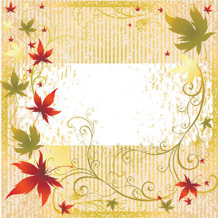Vector frame with colorful Autumn Leafs. Thanksgiving (From my  Stock Vector - 5605739