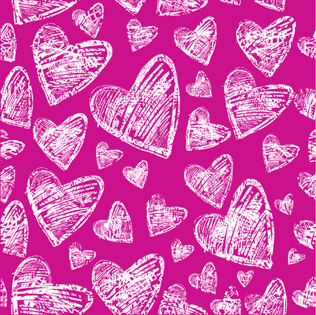 Seamless pattern with hearts. Saint Valentines Day. (From my BIG  Vector