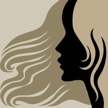 hairstyling: Mujer de cosecha de detalle decorativa con hermoso pelo largo (de mi