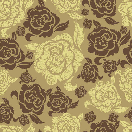 Seamless vintage grunge floral pattern with roses (From my big  Vector