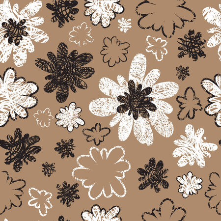 Seamless vintage grunge floral pattern (From my big