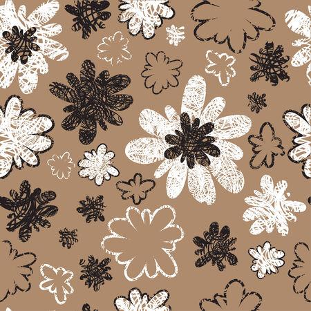 umber: Seamless vintage grunge floral pattern (From my big