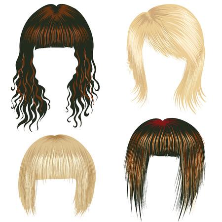 kurz: Vektor-set trendy Haarstyling f�r Frau (aus meinem gro�en