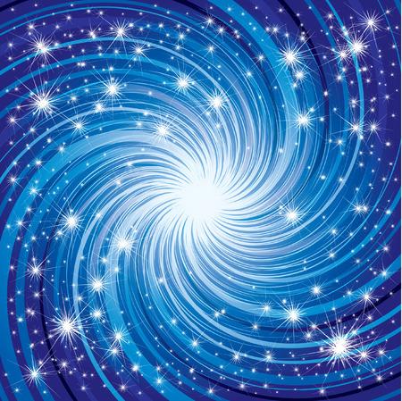lucero: Vector azul brillante fondo de Navidad con estrellas en el cielo (de mi
