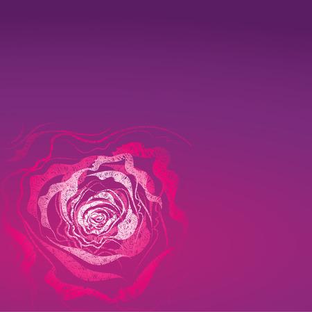 hatchwork: Grunge rose Illustration (From my big