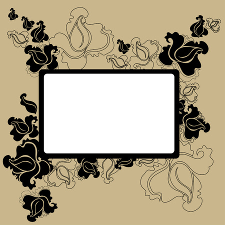 Vector Floral vintage frame  (From my