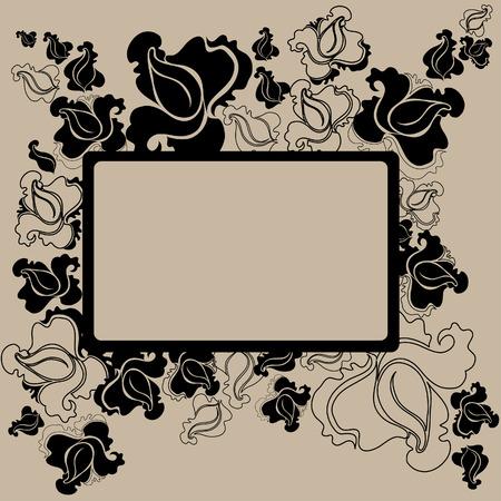 brie: Vector bloemen vintage frame (van mijn