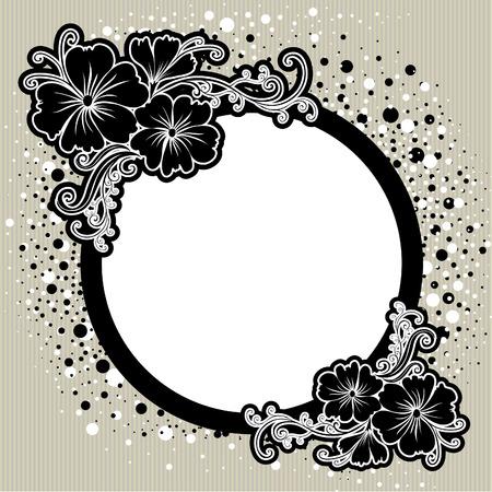 brie: Vector Floral vintage frame (van mijn  Stock Illustratie