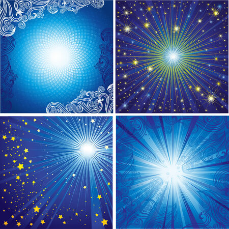 Vector set of shining backgrounds (from my  Stock Vector - 6199130